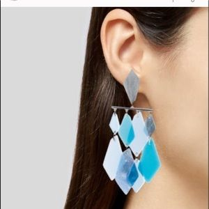 KENDRA SCOTT Hannah statement earrings in blue